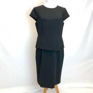 White House Black Market | Black peplum dress 14